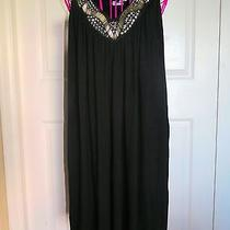 Express Nwt Black Dress With Bead/sequin Neckline - Lbd- Size Large Photo