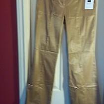 Express Nwt Tan Shiney Editor Pants Size 4 Photo