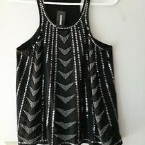 Express Nwt Tank Tunic Top Sequined and Beaded Black Size Small/petite Classy Photo