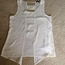 Express Off-White Sleeveless Top Ladder Style Back Size Small Photo