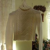 Express Off White Turtleneck Size Small Sweater Photo