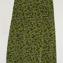 Express Olive Green Floral Print Dress Size 7/8 Photo