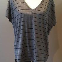 Express One Eleven Gray Striped Hi Low Top Size M Short Cap Sleeve Nwt  Photo