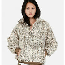 Express One Eleven Sherpa Fleece Sweatshirt 06435431 Photo