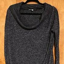 Express One Eleven Sweater Black Cowl Neck Size Small Photo