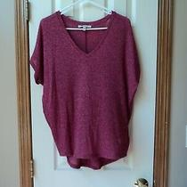 Express One Eleven v-Neck Shirt Top  Womens Size S  Cap Sleeve  Vee Neck Photo