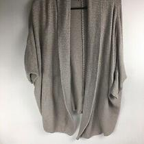 Expressopen Front Knit Cardigan Sweatertan Beigewomens Xs 1/2 Sleeve Photo