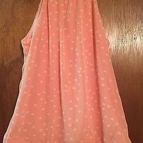 Express Orange With White Hearts Halter Style Top Size Xs Photo