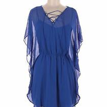 Express Outlet Women Blue Casual Dress M Photo