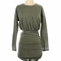 Express Outlet Women Green Casual Dress Xs Photo