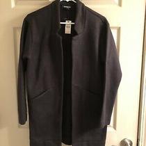 Express Oversized Tailored Knit Blazer Jacket Black Xxs Photo