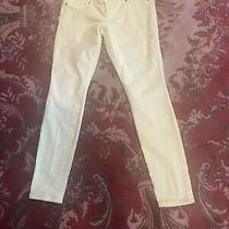 Express Pale Yellow Skinny Jeans 8 Photo
