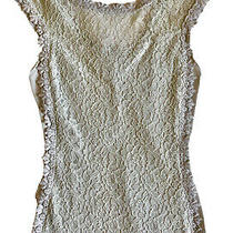 Express Pastel Light Blue Gray Lace Top Sleeveless Size Xs Excellent Condition Photo