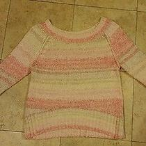 Express Peach/beige/white Knitted Sweater Size Xs Photo