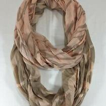 Express Peach Tan Love Infinity Scarf Blush Pink Taupe Amour Script Wording Loop Photo