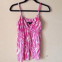 Express Pink/beige Zebra Graphic Print Cami Top Size M Photo