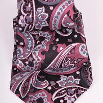 Express Pink & Blue Silk Tie Photo