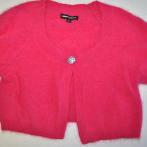 Express Pink Cardigan Shrug Sweater Size Xs 80% Angora Rabbit Hair Photo
