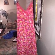 Express Pink Flowery Sundress  13-14 New Photo