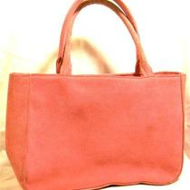 Express Pink Genuine Suede Double Handled Baguette Barely Used Condition Photo