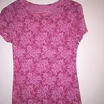 Express Pink Lace Detailing Tshirt Small Nwot Photo