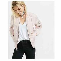 Express Pink Puffer Bomber Jacket Size S Blush Pink New With Tags Photo