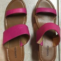 Express Pink Sandal Wedges Size 7 New Photo