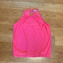 Express Pink Stretchy Spaghetti Strap Halter Tank Top Shirt Womens Size S Small Photo