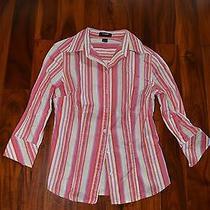 Express Pink Stripe Dress Shirt Top 4 Photo