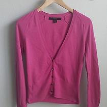 Express Pink v-Neck Cardigan Sweater - Cotton/cashmere - Sz M Photo