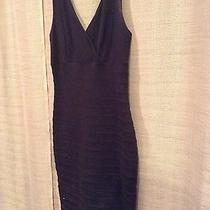 Express Pleaded Black Dress- Size Xs  Photo