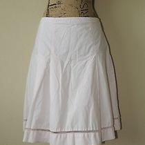 Express Pleated a-Line Skirt Knee Length Cord Crochet Hem in Pink Blush Size 8 Photo
