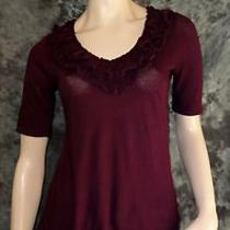 Express Plum Knit Summer Top Medium Soft Cotton Modal Photo