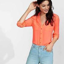 Express Porotfino Sz Small S Neon Shirt Orange  Photo
