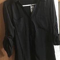Express Portofino Shirt. Black. New Photo