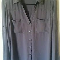 Express Portofino Shirt Gray Medium Photo