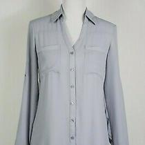 Express Portofino Shirt  Slim Fitgray Button-Up Roll Tab Sleeve Size S  Nwt  Photo