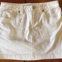 Express Precision Fit Denim White Stretch Jean Short Skirt Mini Sz 2 Photo