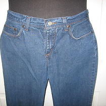Express Precision Fit Hipster Flare Womens Jeans Size 5/6 Long Medium Blue Photo