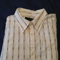 Express Premium Long Sleeve Dress Shirt Xl Photo