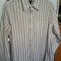 Express Premium Woven Cloth Mens Long Sleeve Button Down Pocket Shirt Xl.  Photo