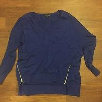 Express Pullover Sweater With Zippers Size Small Photo