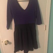 Express Purple and Black Dress  Photo