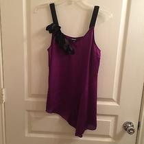 Express Purple and Black Satin Top Photo