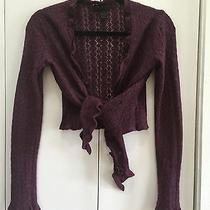 Express  Purple Angora Blend Sweater Shrug Sz S Great Condi Photo
