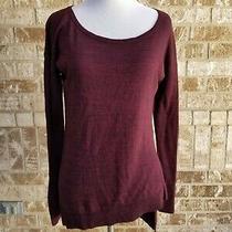 Express Purple Assymetrical Light Sweater Size Xs Photo