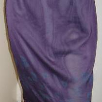Express Purple Floral Sheer Overlay Pencil Skirt (7/8) Photo