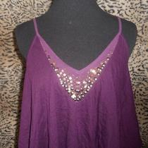 Express Purple High Low Bling Top Small Photo