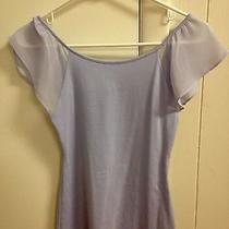 Express Purple-Lavender Ruffled Sleeves Cotton Top Size Women's Xs Photo