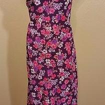 Express Purple Pink Floral Hi-Low Sexy Neckline Casual Dress Sundress 5/6  Photo